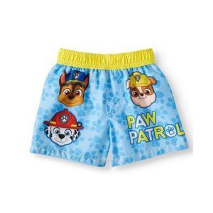 Paw Patrol Baby Boy Yellow Trim Swim Trunks